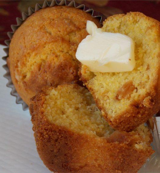 Raisin Bran or Corn Muffin Toasted w/ Butter